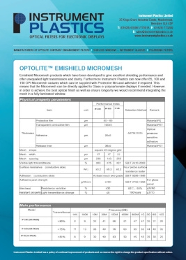Optolite Emishield Micromesh (Instrument Plastics)