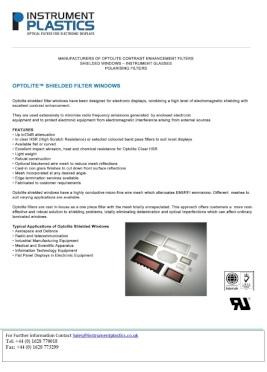 Optolite Shielded Filter (Instrument Plastics)