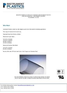 Wiremesh (Instrument Plastics)