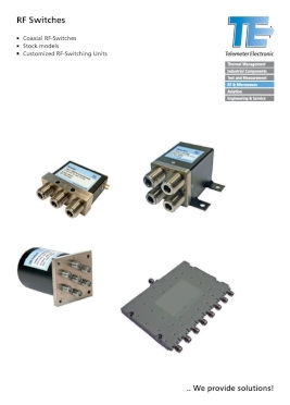 Przełączniki RF (Telemeter Electronic)