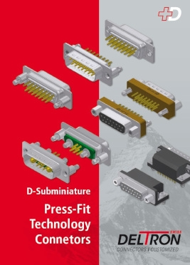 Katalog złącz D-Sub Press Fit (Deltron)